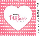 happy mother's day text in...   Shutterstock .eps vector #1088861657