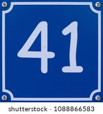 door number fourty one  41 | Shutterstock . vector #1088866583