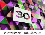 number 30 on the purple and... | Shutterstock . vector #1088909207