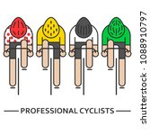 modern illustration of cyclists.... | Shutterstock .eps vector #1088910797
