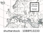 physical map of europe. ancient ... | Shutterstock . vector #1088913233