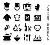 chef icons | Shutterstock .eps vector #108891647
