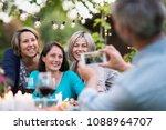 one summer evening friends... | Shutterstock . vector #1088964707