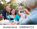 one summer evening friends... | Shutterstock . vector #1088964713