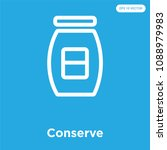 conserve vector icon isolated... | Shutterstock .eps vector #1088979983