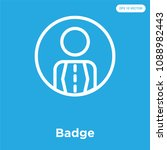 badge vector icon isolated on...