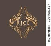 rice premium organic natural... | Shutterstock .eps vector #1089001697
