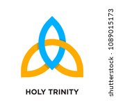 holy trinity logo isolated on... | Shutterstock .eps vector #1089015173