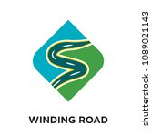 winding road logo isolated on... | Shutterstock .eps vector #1089021143