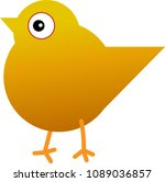 chick walking out alone | Shutterstock .eps vector #1089036857