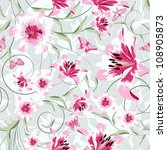 seamless illustration of floral ... | Shutterstock . vector #108905873
