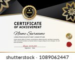 official certificate of... | Shutterstock .eps vector #1089062447