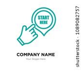 start here company logo design... | Shutterstock .eps vector #1089082757