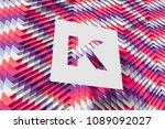 purple and pink zig zag... | Shutterstock . vector #1089092027