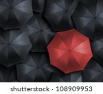 standing out from the crowd ... | Shutterstock . vector #108909953