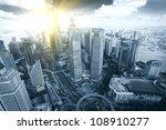 shanghai pudong city bird's eye ... | Shutterstock . vector #108910277