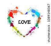heart of paint stains. vector | Shutterstock .eps vector #1089148367