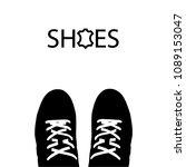 black pair of shoes on white...   Shutterstock .eps vector #1089153047