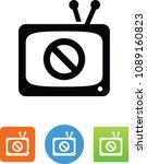 tv ban icon | Shutterstock .eps vector #1089160823