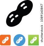 vector peanut icon | Shutterstock .eps vector #1089160847