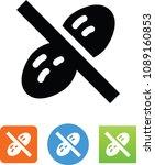 vector peanut ban icon | Shutterstock .eps vector #1089160853