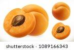 apricot. fresh fruit 3d... | Shutterstock .eps vector #1089166343
