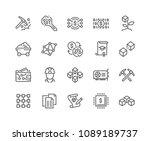 simple set of blockchain... | Shutterstock .eps vector #1089189737