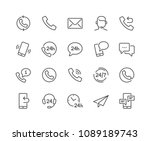 Simple Set of Processing Related Vector Line Icons. Contains such Icons as Support, Chat, Callback and more. Editable Stroke. 48x48 Pixel Perfect. | Shutterstock vector #1089189743
