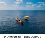 soil boring boat  a... | Shutterstock . vector #1089208973