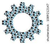 vector shipment van icons are... | Shutterstock .eps vector #1089212147