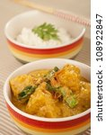 Small photo of Nonya Pumpkin and Kailan Stew in Rich Coconut Suntan Gravy. Unsharpened file