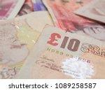Pile Of Pound Gbp Money Close...