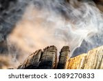 smoke bonfire trees | Shutterstock . vector #1089270833