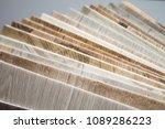 linoleum samples on white... | Shutterstock . vector #1089286223