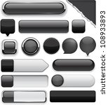 Blank Black Web Buttons For...