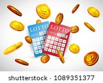 lottery tickets and flying... | Shutterstock .eps vector #1089351377