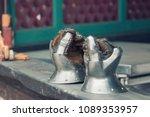 medieval armor  detail of an... | Shutterstock . vector #1089353957