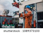 marine deck officer or chief... | Shutterstock . vector #1089373103
