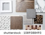 samples of material  wood   on... | Shutterstock . vector #1089388493