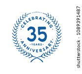 35 years design template. 35th... | Shutterstock .eps vector #1089391487