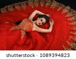 young gorgeous dreamy woman... | Shutterstock . vector #1089394823