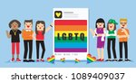 illustration vector flat young... | Shutterstock .eps vector #1089409037