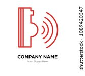 voice command company logo... | Shutterstock .eps vector #1089420347