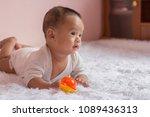 innocent kid  do face doubt ... | Shutterstock . vector #1089436313