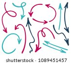 hand drawn diagram arrow icons... | Shutterstock .eps vector #1089451457