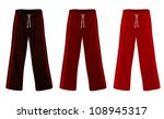 sweatpants set. | Shutterstock .eps vector #108945317