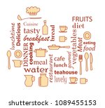 word collage for kitchen and...