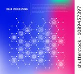 data processing concept in... | Shutterstock .eps vector #1089457397