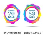 summer sale label. discount... | Shutterstock .eps vector #1089462413
