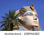 Sphinx replica in Las Vegas - stock photo